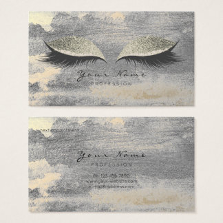 Silver Grungy Lashes Gold Cement Appointment Card