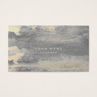 Silver Grungy Sepia Gold Cement Wall Gray Minimal Business Card