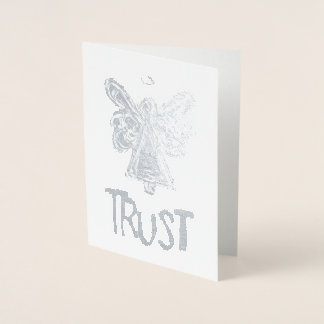 Silver Guardian Angel Inspirational Trust Cards