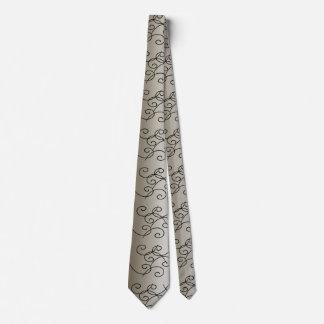 Silver Gunmetal Ornate Modern CricketDiane Tie
