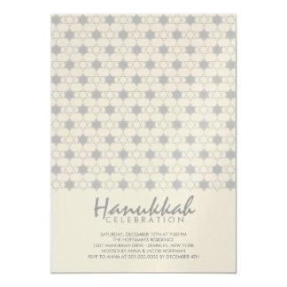 Silver Hanukkah Stars Of David Holiday Party Invit 13 Cm X 18 Cm Invitation Card