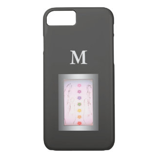 Silver Healing Hands monogram iPhone 8/7 Case