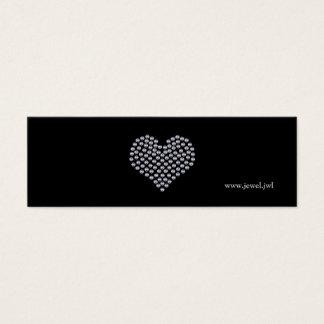 Silver Heart Business Card Template