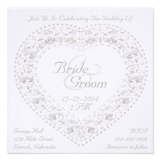 Silver Heart & Rainbow - Wedding Invitation