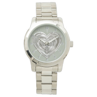 Silver heart wristwatches