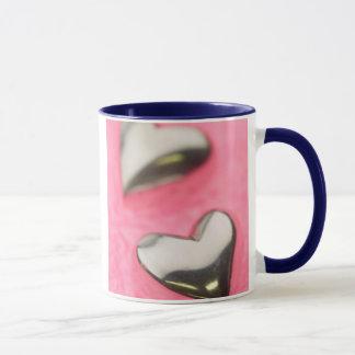 Silver Hearts Mug