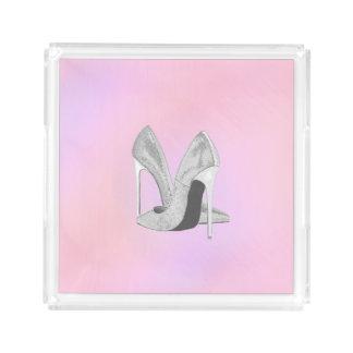 Silver Heels Pastels Acrylic Tray