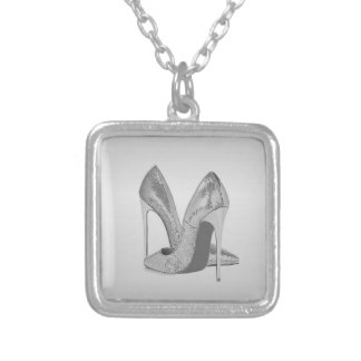 Silver Heels Silver Plated Necklace