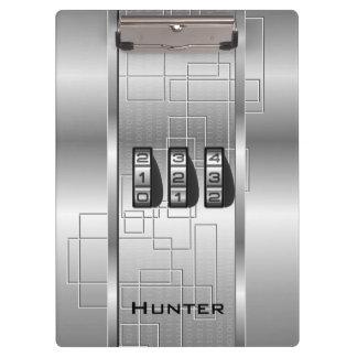Silver Hi-Tech Code Locker Clipboard
