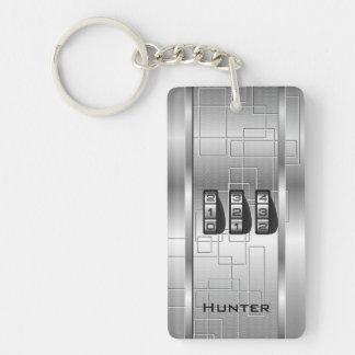Silver Hi-Tech Code Locker Key Ring