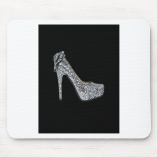 Silver High Heels Customize add Text Mouse Pad