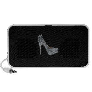 Silver High Heels Customize add Text Mp3 Speaker