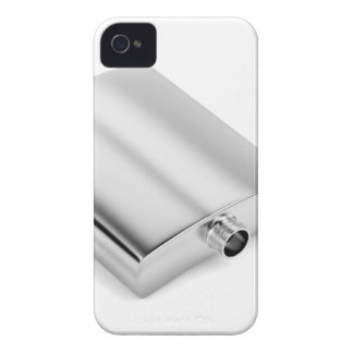 Silver hip flask Case-Mate iPhone 4 cases