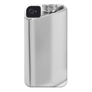 Silver hip flask iPhone 4 Case-Mate case