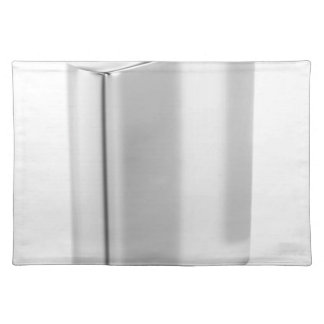 Silver hip flask placemat