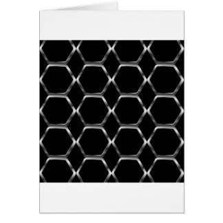 Silver honey cell background greeting card