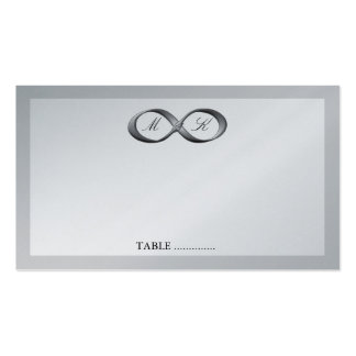 Silver Infinity Hand Clasp Wedding Place Card Business Cards