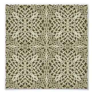 Silver Intricate Arabesque Pattern Photograph