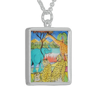 silver jewels jungle' S Sterling Silver Necklace