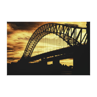 Silver Jubilee Bridge Stretched Canvas Print