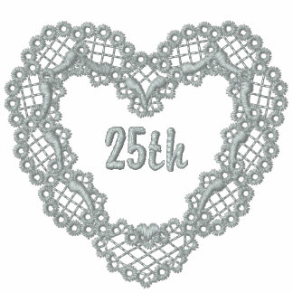 Silver Lace Heart - 25th Anniversary