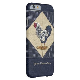 Silver Laced Wyandotte Rooster Denim Barely There iPhone 6 Case
