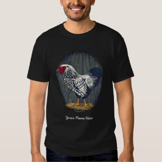 Silver Laced Wyandotte Rooster Shirt