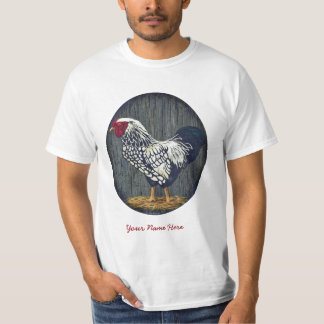 Silver Laced Wyandotte Rooster Tee Shirt