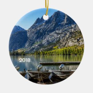 Silver Lake, California Ceramic Ornament