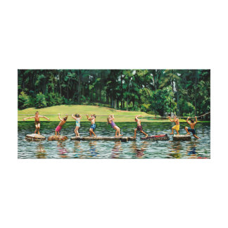 Silver Lake Kids Canvas Print