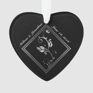 Silver Lattice Wedding Memories Ornament