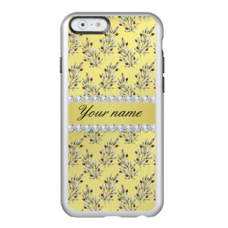 Silver Leaves Berries Faux Gold Foil Bling Diamond Incipio Feather® Shine iPhone 6 Case