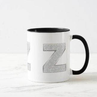 Silver Letter Z Mug