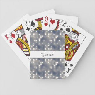 Silver Lights Playing Cards