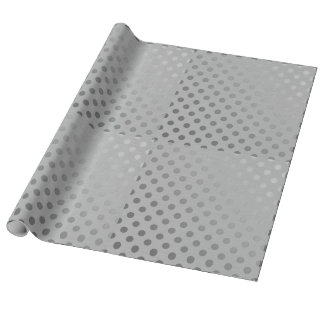 Silver Linen Wrapping Paper