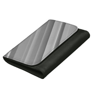 Silver Lines Leather Wallet For Women