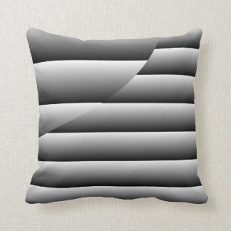 Silver Lines Throw Pillow