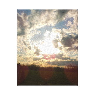 silver lining stretched canvas prints