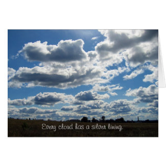 Silver Lining Clouds Sky Greeting Card