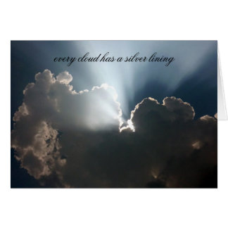 silver lining greeting card