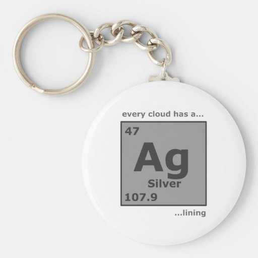 Silver Lining Key Chains
