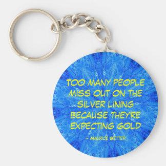 Silver Lining - keychain - Customized