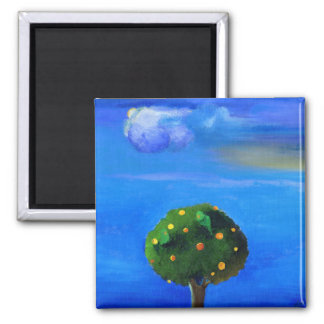 Silver Lining over the Orange Tree 2012 Square Magnet