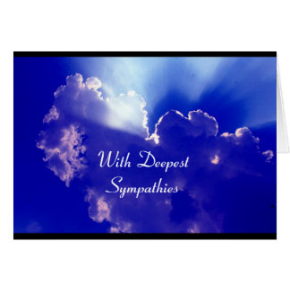 silver lining sympathies greeting card