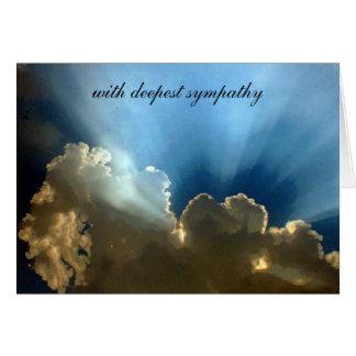 silver lining sympathy greeting card