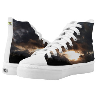 Silver linings printed shoes