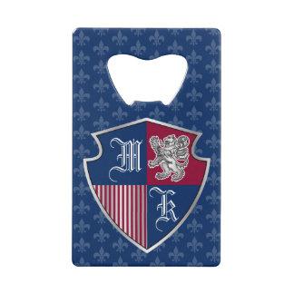 Silver Lion Coat of Arms Monogram Emblem Shield