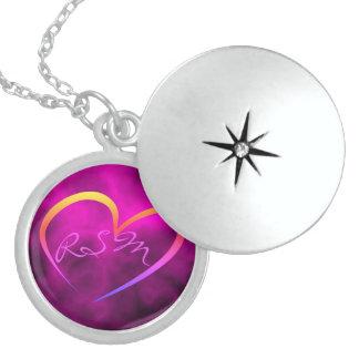 Silver locket monogrammed