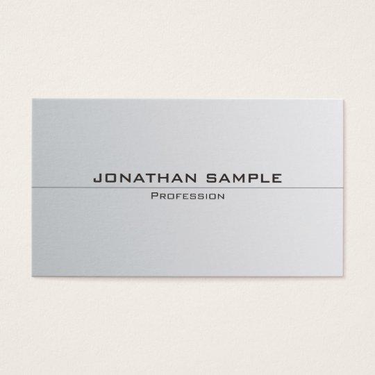 Silver Look Minimalistic Elegant Plain Trendy Business Card