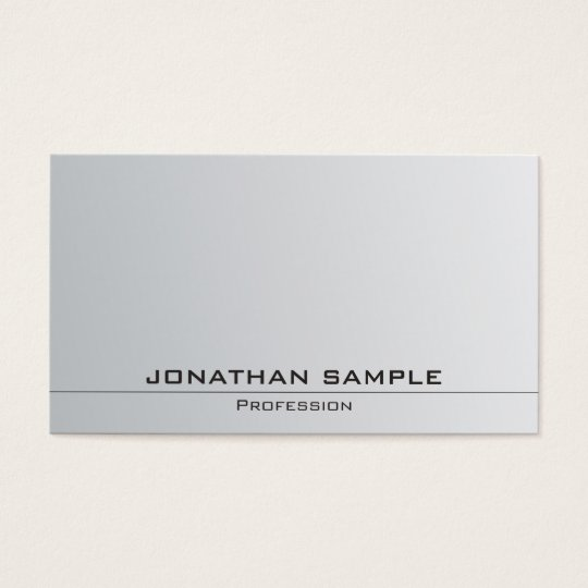 Silver Look Sophisticated Simple Plain Trendy Business Card